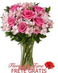 069-arranjo de astromelia e rosas