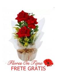 075-ikebana de rosas