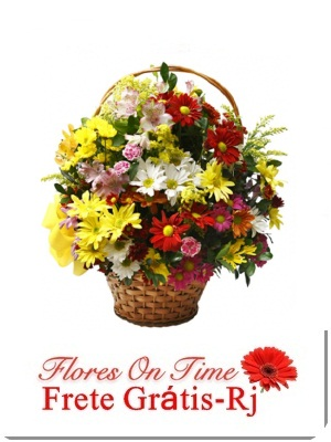 093-Cesta Pequena de Flores do Campo