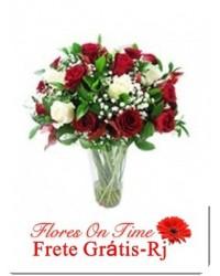 216-ARRANJO de 20 rosas coloridas