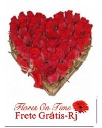 188-Coração de rosas Grande